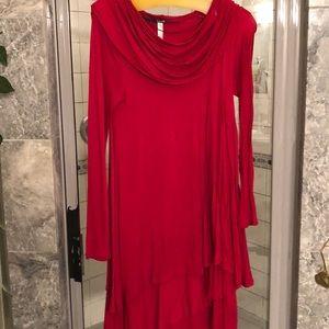 Great red ruffle dress
